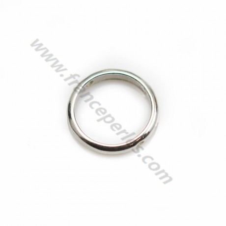 Spacer in 925 silver, in shape of round, with 2 holes, 13mm x 2pcs
