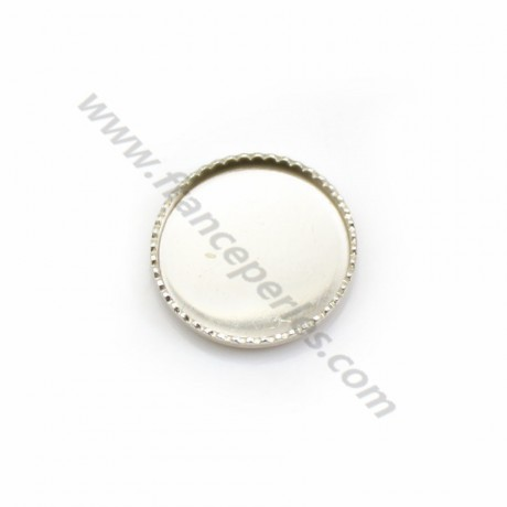 Set in 925 silver, for 12mm round cabochon x 2pcs