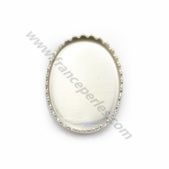Set in 925 silver, for oval cabochon, 13 * 18mm x 1pc