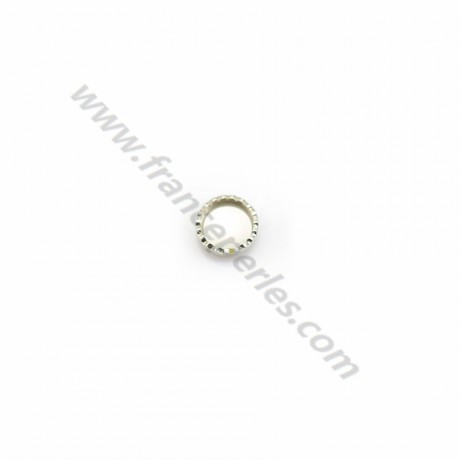 Set in 925 silver, for round cabochon of 4mm x 10pcs