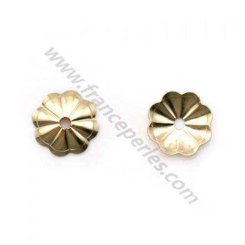 Coupelle fleur en gold filled 14 carat 6mm x 5pcs