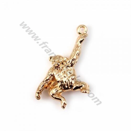 "Veneer chimpanzee by ""flash"" Gold on brass14x20mm x1pc"