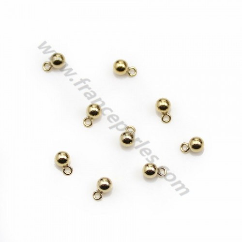 Gold filled charm, ball shaped with ring, 3mm x 2pcs