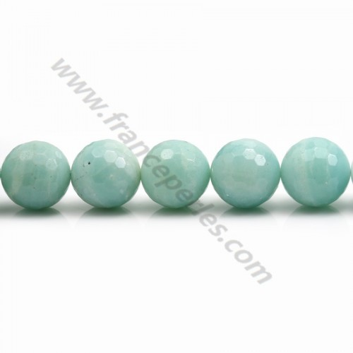 Amazonite Ronde Facette 16mm x 40cm