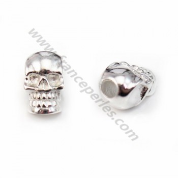 925 Sterling Silver skull pendant , 7x12mm  X 1 pc