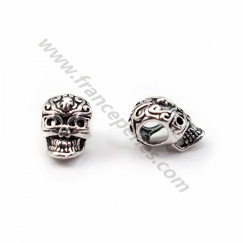 925 Sterling Silver skull pendant  7x11mm  X 1 pc