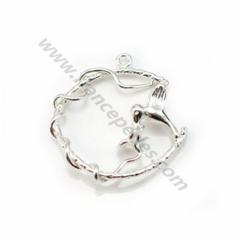 925 sterling silver hummingbird pendant  26mm x 1pc