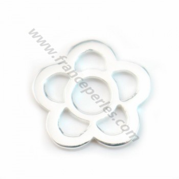 925 Sterling silver opened flower spacer 9mm X 2 pcs