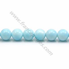Hemimorphite in light blue color, 8mm x 40cm