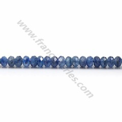Cyanite blue, in shaped of a faceted washer, 3 * 5mm x 39cm