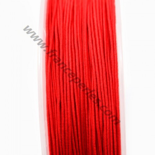 Sheathed elastic red 0.80mm x 5m