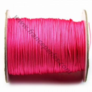 Fil polyester rose foncé 1 mm X 2 m