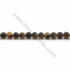 Matte tiger's eye, in a round shape 4mm x 39cm