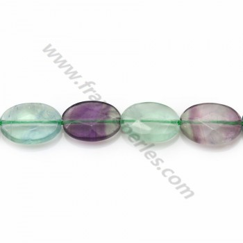 Fluorite faceted oval
