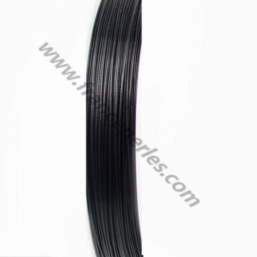 Cable acier black 0.3mm x10m