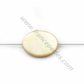 Yellow Shell Oval 10x14mm X 4pcs