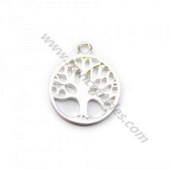 925 sterling silver tree ,13.7x16.7mm x 1 pc
