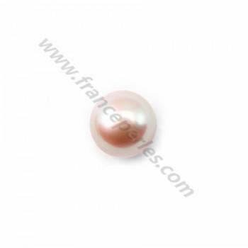 Pearl freshwater 7mm mauve  demi tron 0.6mmX 10 pcs