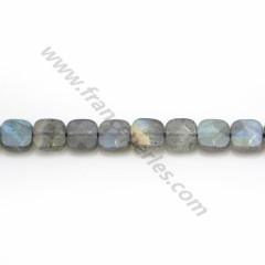 Labradorite grey, in a faceted squared shaped 6 mm x 39cm