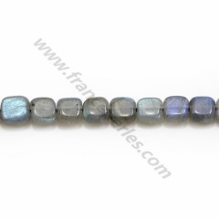Labradorite grey in a square shaped 6 mm x 39cm