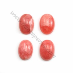 Pink rhodochrosite cabochon, in oval shape, in size of 11*15mm x 1pc