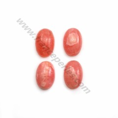Pink rhodochrosite cabochon, in oval shape, in size of 8*12mm x 1pc