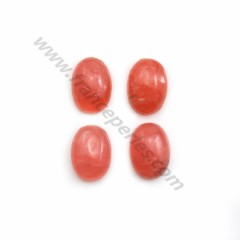 Pink rhodochrosite cabochon, in oval shape, in size of 8*11mm x 1pc