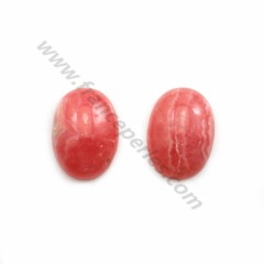 Pink rhodochrosite cabochon, in oval shape, in size of 14*19mm x 1pc