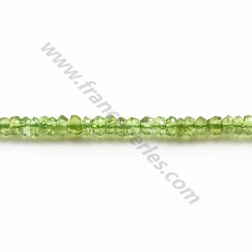 Peridot Round faceted 4mm x 40cm