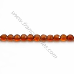 Hessonite faceted rondelle 4.5*5mm x 36cm