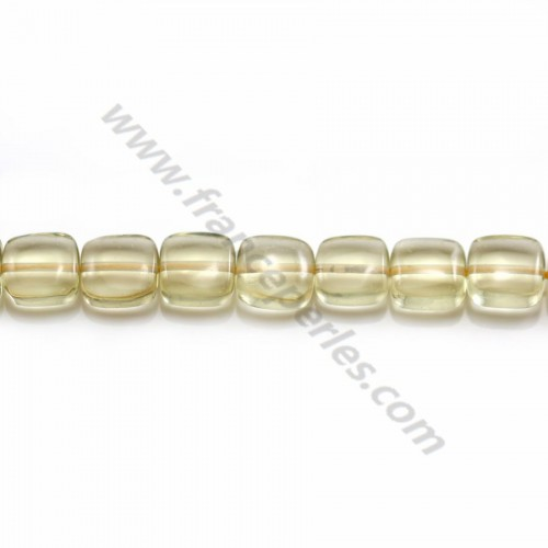 Lemon Quartz Faceted Flat Round 8.5mm X 40cm