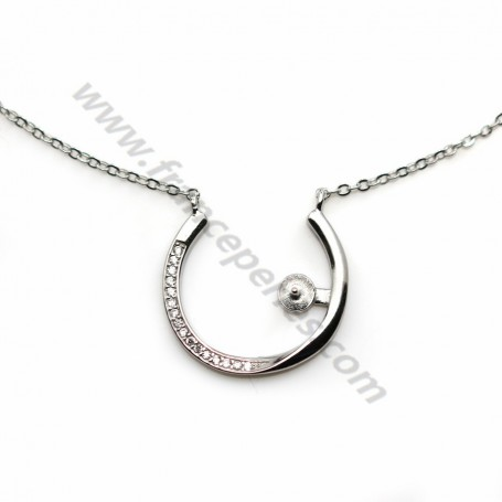 Serpentine links necklace 925 silver x 45cm