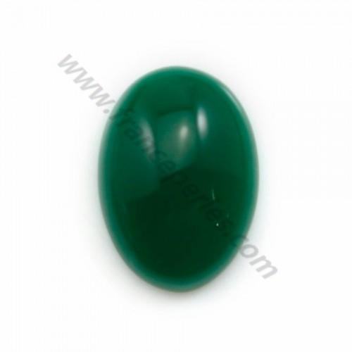 Cabochon d'aventurine verte, qualité A+, de forme ovale, 13*18mm x 1pc