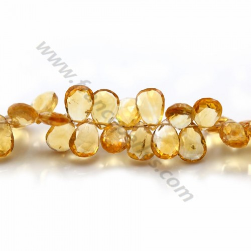 Citrine briolette, diferent size avalaible x 2pcs