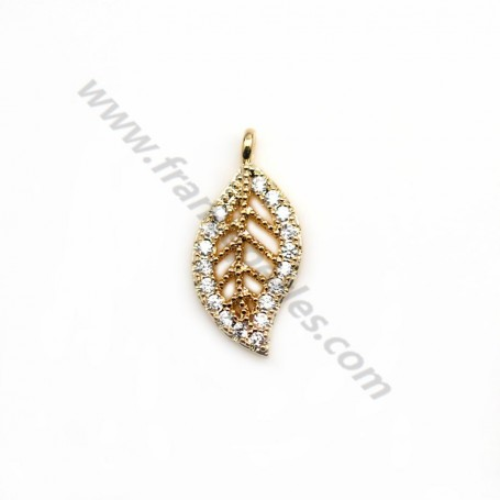 """Round pendant 14mm , with pearl beads, plated with """"flash"""" gold on brass x 1pc"""