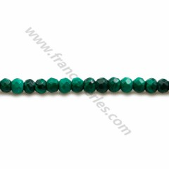 Malachite, in round and faceted shape, 2mm x 38cm