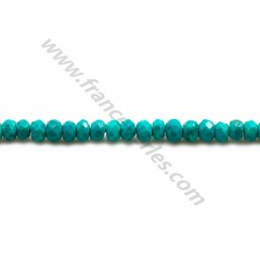 Turquoise reconstituted, in the shape of faceted washer, measuring 4*2.5mm x 40cm