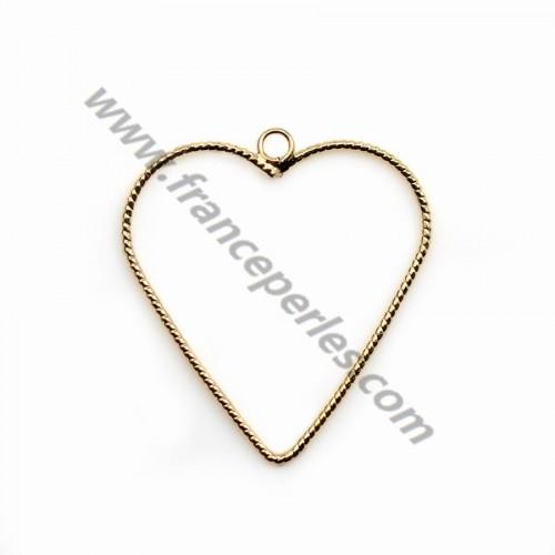 Breloque en forme de coeur , de taille 1*30mm x 2pcs