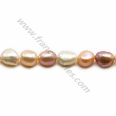 Perles d'eau douce multicolore 8-9mm  x35cm