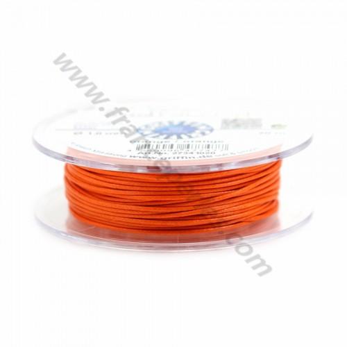 Orange waxed cotton cords 1.0mm x 20m