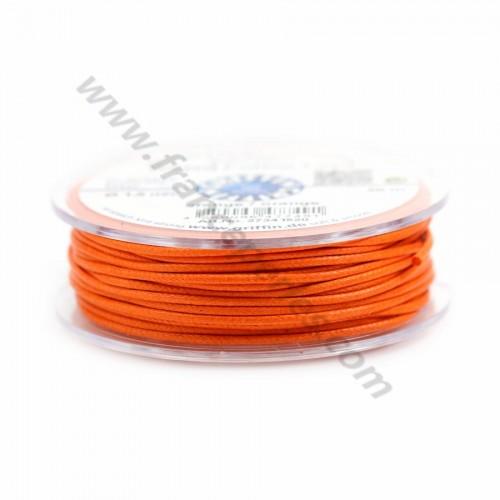 Orange waxed cotton cords 2.5mm x 5m