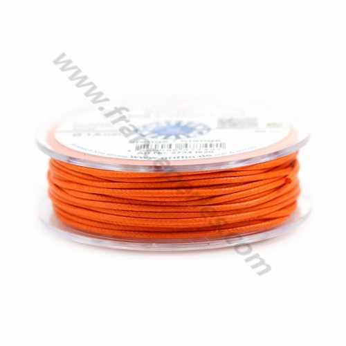 Orange waxed cotton cords 2.0mm x 5m