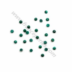 Cabochon malachite round 4mm x 2pcs