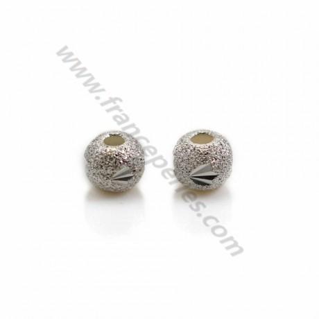 sterling silver 925 rondelle diament  5.5mm   x 4 PCS