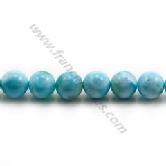 Larimar round beads 5.5-6mm x 40cm