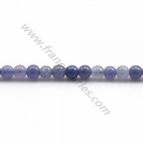 Tanzanite round beads 4mm x 40cm
