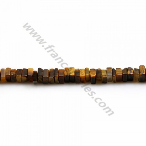 Tiger eye, square washer shape, 2.5*4.5mm x 38cm