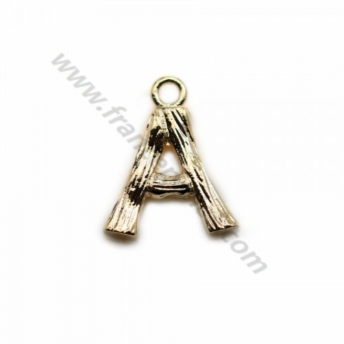 "Alphabet 10mm, plated with ""flash"" gold x 1pc"