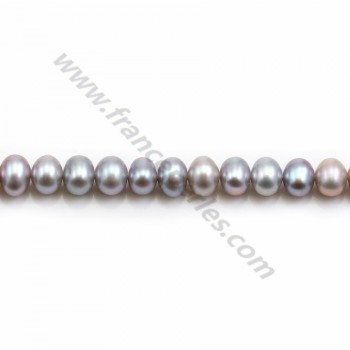 Grey Freshwater Pearl Round 6mm X 40 cm