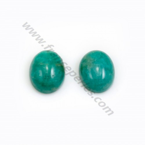 Amazonite cabochon from Peru, in oval shaped, 8*10mm x 1pc